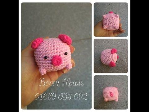 CROCHET PIG MONOKURO BOO - Hướng dẫn móc heo MONOKURO BOO- boom house