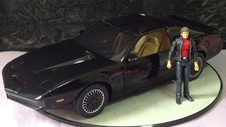 Diamond Select Toys EE Exclusive 1/15 Knight Rider KITT with Michael Knight action figure view on youtube.com tube online.