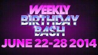 Celebrity Actor Birthdays - June 22-28, 2014 HD