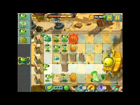 Plants vs Zombies 2 - Ancient Egypt - Day 25 - Dr.  Zomboss BOSS