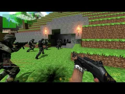 Counter-Strike Source: Maps - ZE_MINECRAFT_V1_1 + 2 Funny fails [15Min] (1080p)