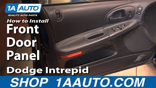 How To Remove Install Front Door Panel Dodge Intrepid 1998