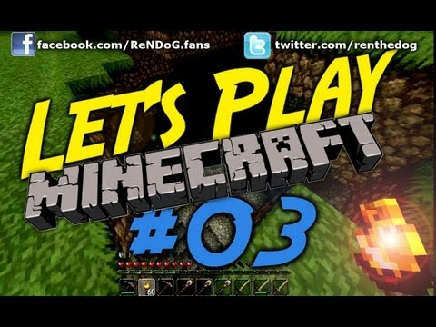 [Part 3] Let's Play Minecraft - Exploring, mining and caves! - YouTube