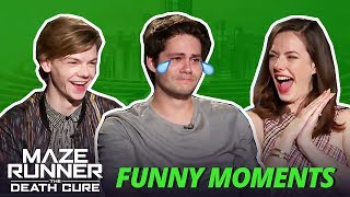Dylan O'Brien Crying - Maze Runner Bloopers Funny Moments: The Death Cure