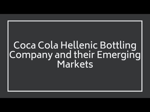 Alain Brouhard Interview-Coca Cola Hellenic Bottling Company and their Emerging Markets