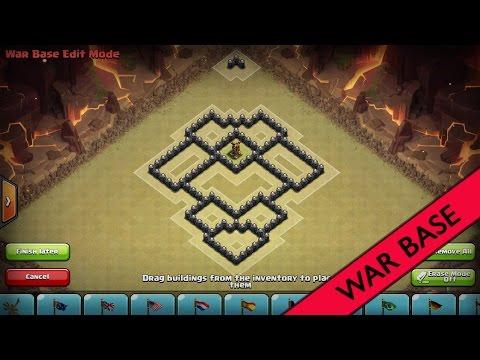 Clash of Clans I Beasty TH6 War Base I Anti Giant&Healer [2015]