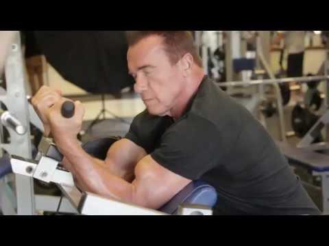 Arnold Schwarzenegger Working Out 2013