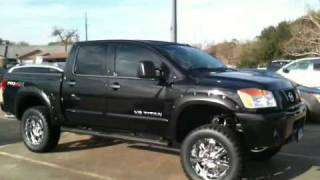 2010 Nissan Titan PRO 4X Crew Cab in Super Black videos