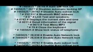SAMSUNG GT-S5230 Codigos Secretos [Incluye Los De Admin