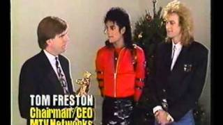 Michael Jackson Receives MTV Video Vanguard Award