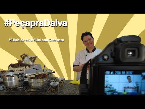 #PeçapraDalva #2 - Silvana Garbin - Bolo da Vovó: Fubá com chocolate
