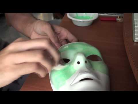 Cine 100x35 (Como hacer la mascara de Green Lantern)