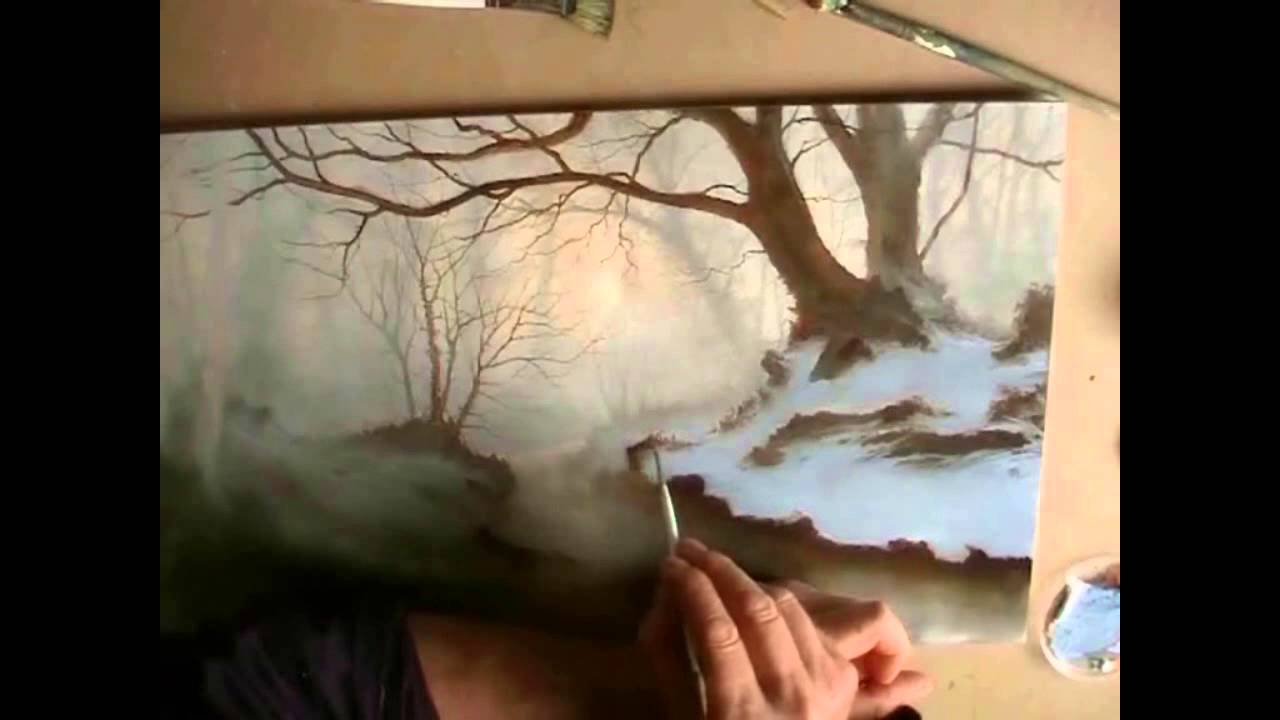 Painting Silver Birch Trees In A Woodland Oil Painting By