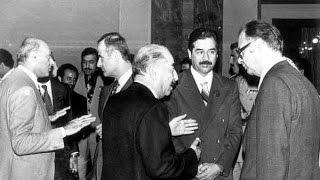 .. اول اجتماع للرئيس صدام حسين قاعة الخلد 1979م