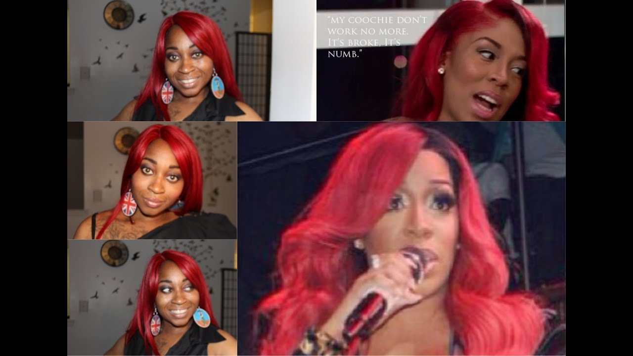 K Michelle Red Hair Bun K michelle bob