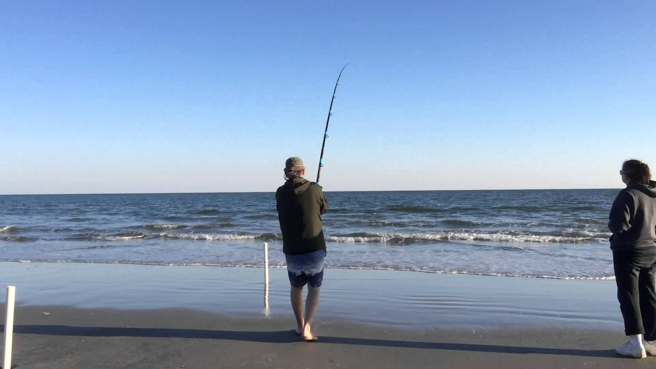 North myrtle beach s c usa surf fishing youtube for Myrtle beach surf fishing