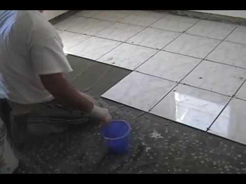 Enchapando el piso