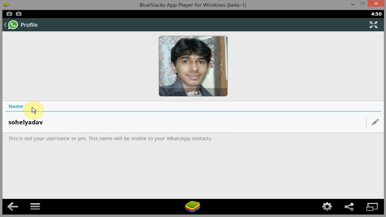 how to change whatsapp profile
