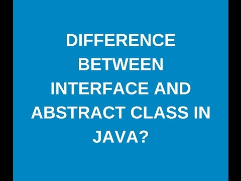 Difference between interface and abstract class in java-java-interview-questions.com