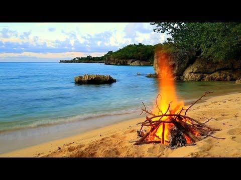 Ocean & Fire relaxing, meditation music video