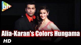 Alia Bhatt And Karan Johar Colors Hungama