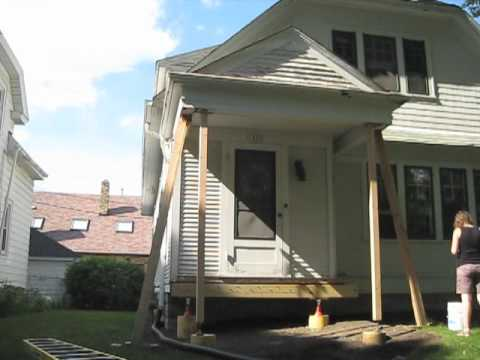Lifting Porch Roof Youtube