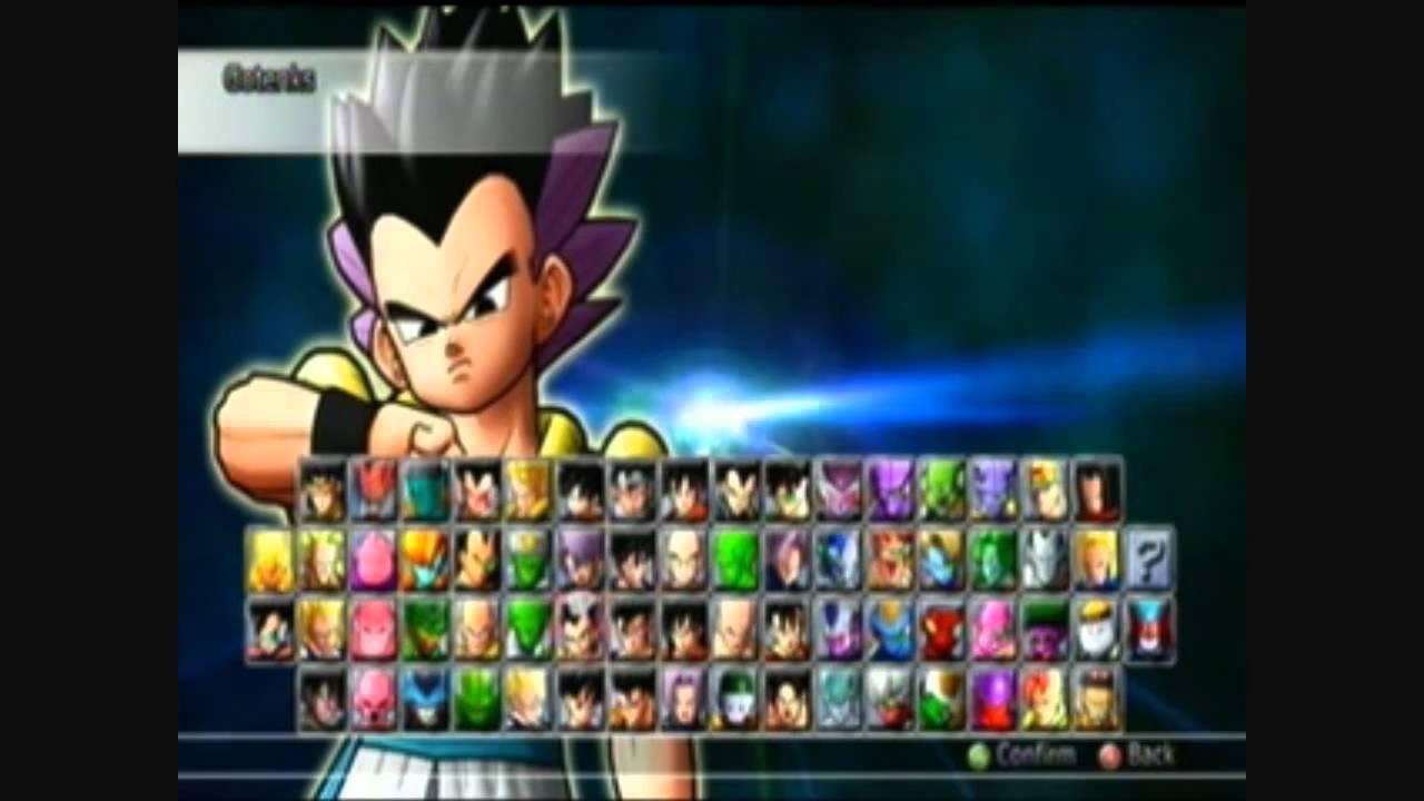 Dragon Ball Raging Blast 2- All Characters & Transformations