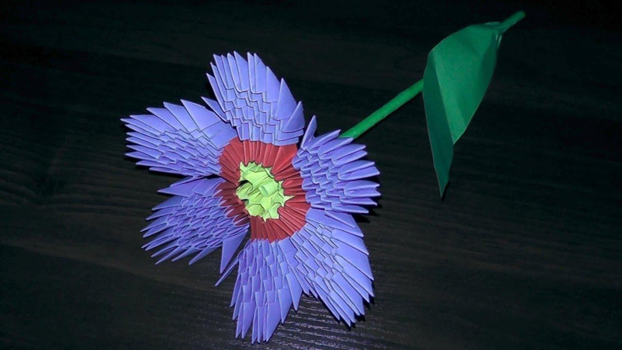 Оригами цветы видео по