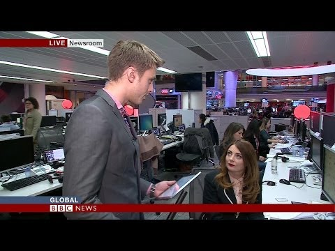 Breaking the Amanda Knox verdict- BBC World News Samantha Barry
