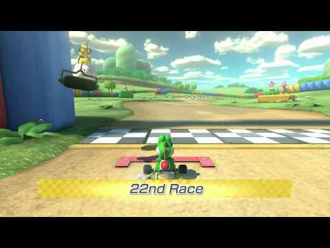 Mario Kart 8 Vs Mode 1 Player Race (All 32 Courses in order)