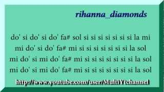 Rihanna Diamonds (full) Flauta Dulce Notas Partitura