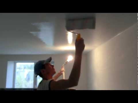 Покраска потолка видео