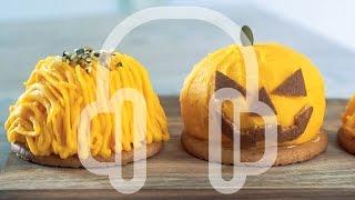 かぼちゃのモンブラン ジャックオランタンケーキの作り方