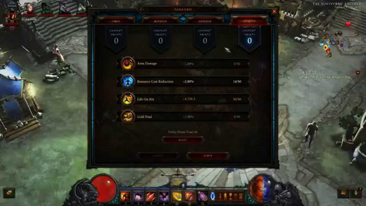 how to get paragon points in diablo 3 vanilla