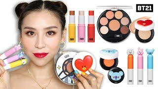 Trying BTS Makeup (BT21 X VT Cosmetics) 👍 or 👎