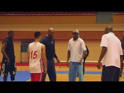 Dennis Rodman trains in North Korea for Kim Jong-un's birthday basketball game