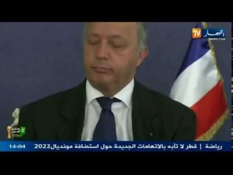 نوم عميق سرق وزير فرنسي باجتماع رسمي في الجزائر