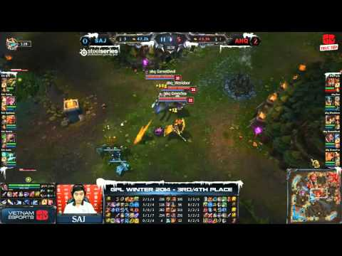 [GPL 2014 Mùa Đông] [Tranh 3-4] [Game 3] Saigon Jokers vs  AHQ e-Sports Club [08.01.2014]