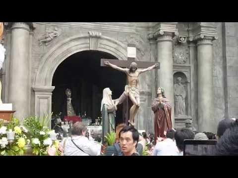 Holy Monday Procession 2014 San Agustin Church Intramuros, Manila