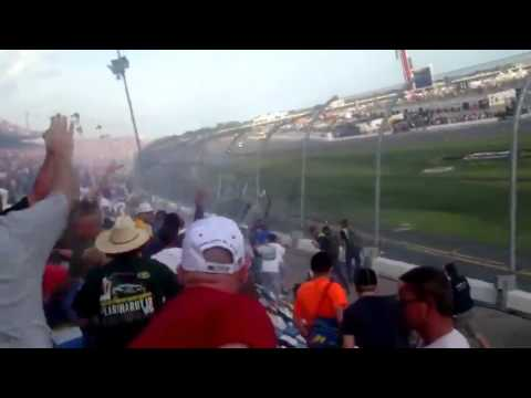 INSANE Nationwide Daytona Kyle Larson Crash - FAN VIDEO