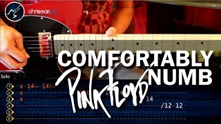How to Play Comfortably Numb PINK FLOYD Solo 1 Guitar (HD) TABS