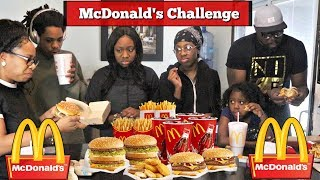 MCDONALD'S CHALLENGE | WHO CAN EAT IT WITHOUT THROWING UP!