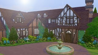 Building a Tudor Mansion in The Sims (Streamed 10/13/18)