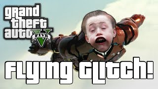 GTA V: FLYING GLITCH! (GTA 5 Online Funny Moments)