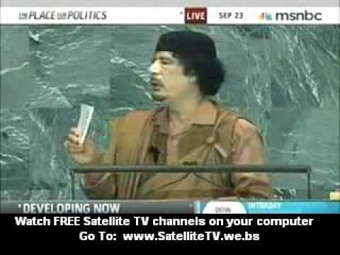 Muammar Gaddafi Speech To United Nations Sept 23, 2009 pt.1 -c5XQtVyeuf8