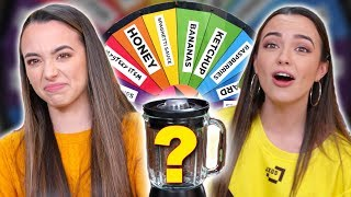 Mystery Wheel of Smoothie Challenge - Merrell Twins