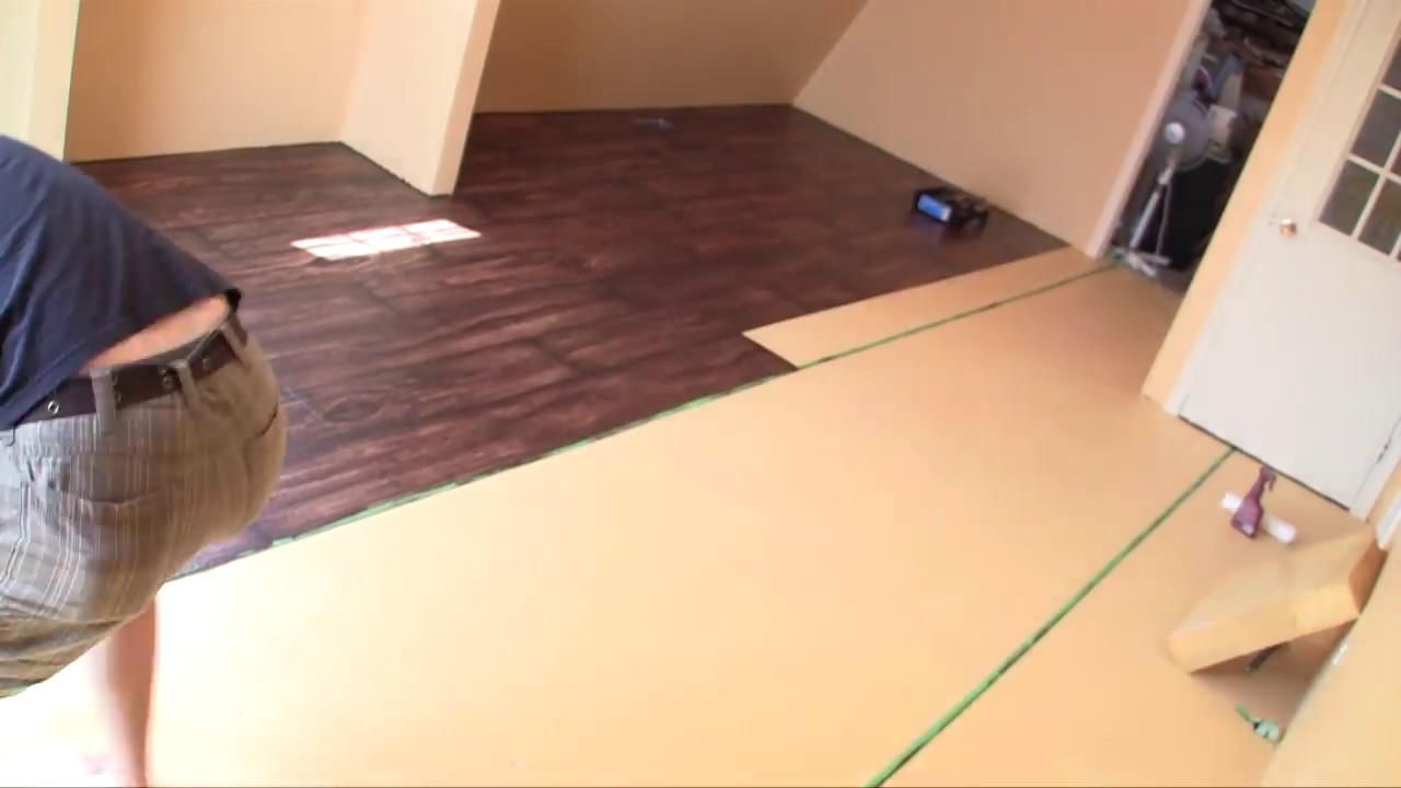Time lapse painting faux wood floors youtube for How to get paint out of wood floors