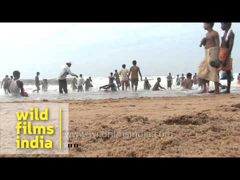 Crowded Puri Beach - Odisha
