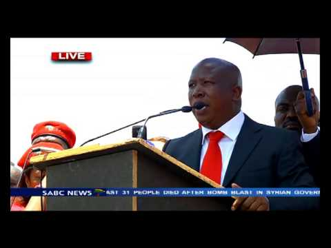 Malema's address after his case postponment