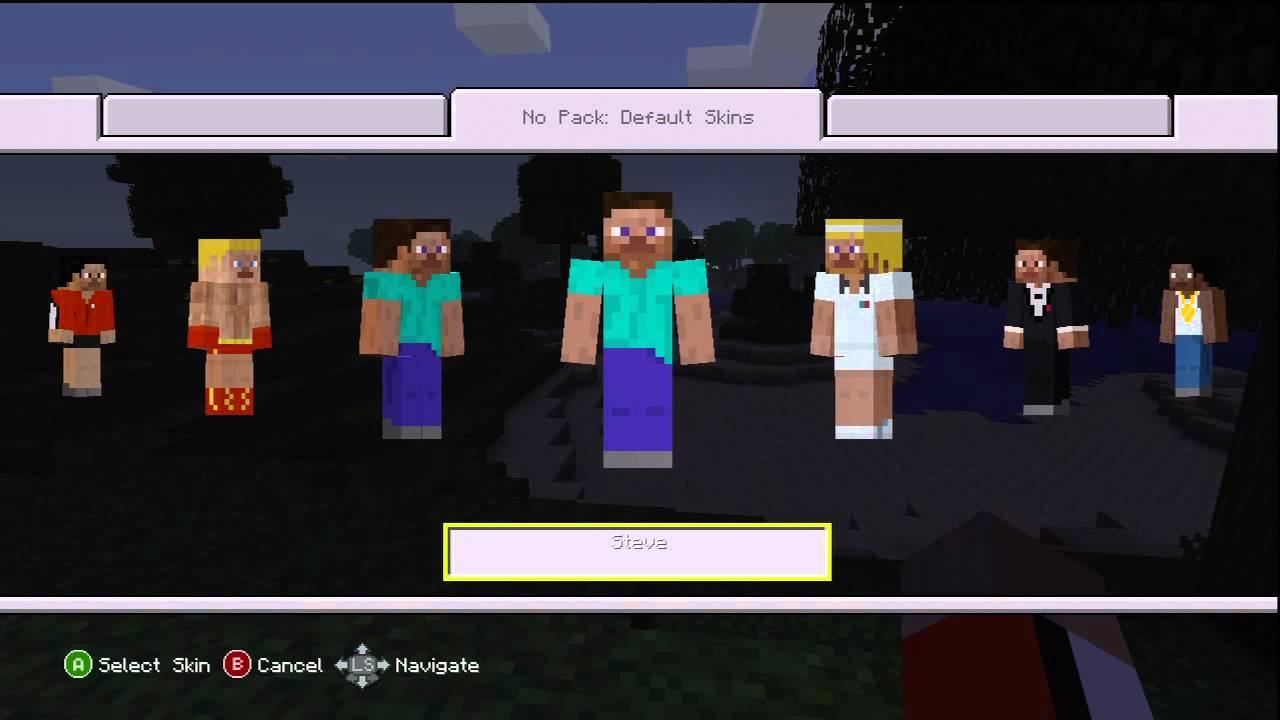 Xbox 360 Minecraft Default Skins Minecraft Xbox 360 Ver...